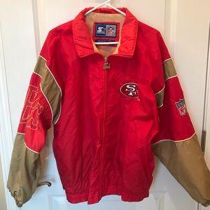 Vintage San Francisco 49ers jacket/ wind breaker.